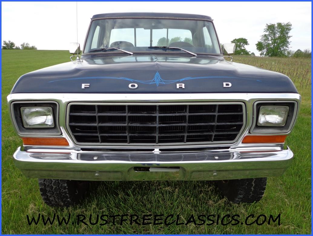 1978 78 F150 Ford 4x4 Short Bed Step Side Ranger Blue